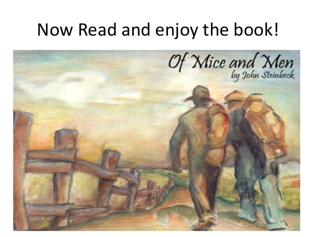 Anyone who enjoys writing essays and has read the novel 'Of Mice And Men'?