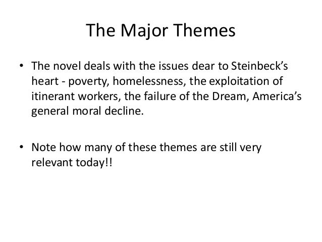 how does steinbeck present the theme Essays & papers quaiyum: how does steinbeck present the theme of loneliness through curley's wife in of mice and men how does john steinbeck present.