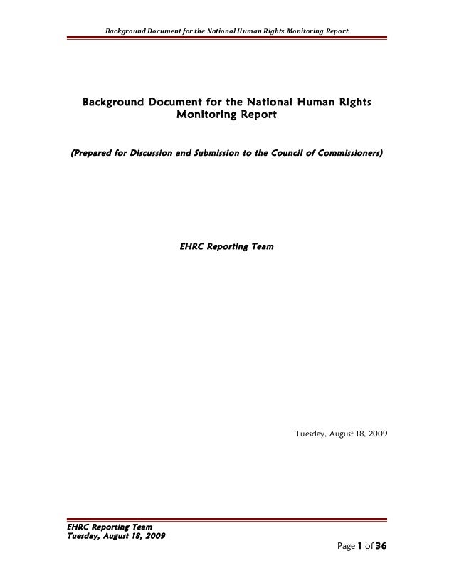 Background Document for the National Human Rights Monitoring Report   Background Document for the National Human Rights   ...