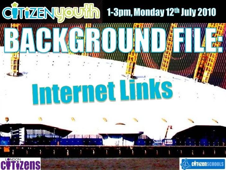 Background file   internet links