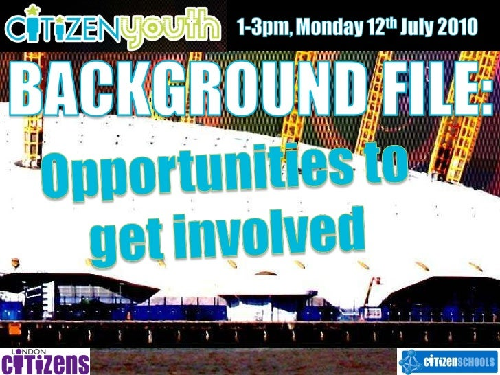 Background file   opportunities to get involved