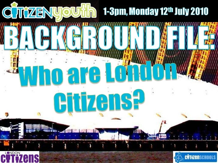 Background file   who are london citizens