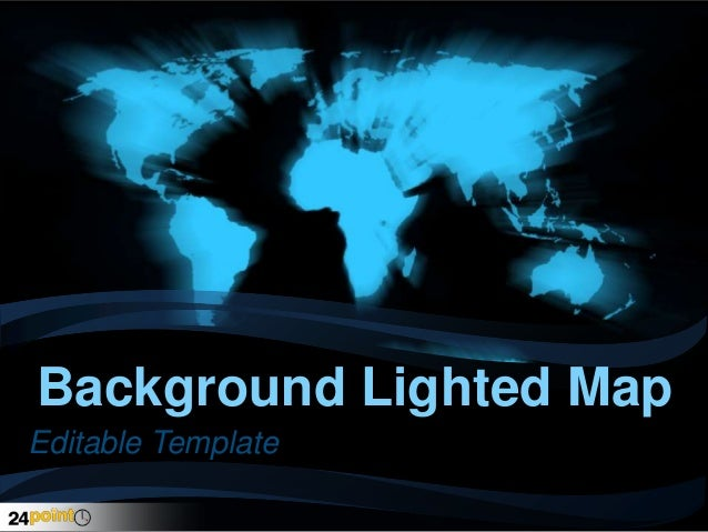 Background Lighted Map Editable Template