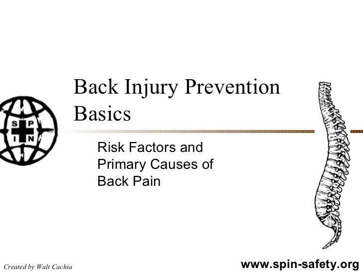 Back Injury Prevention