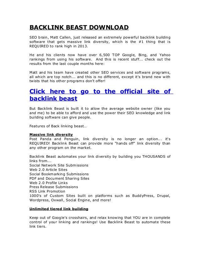 Backlink beast download