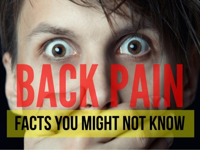 Back Pain Facts you might NOT know!