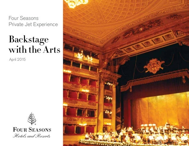 New Four Seasons Private Jet Experience takes off April 2015 - Backstage with the arts #FSJet