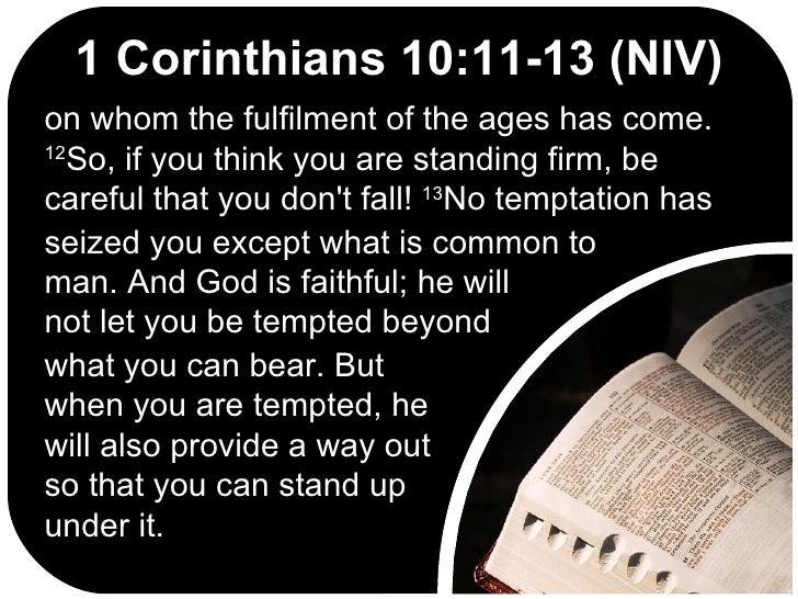 Corinthians Niv 1 13 1 Corinthians 10:11-13 Niv