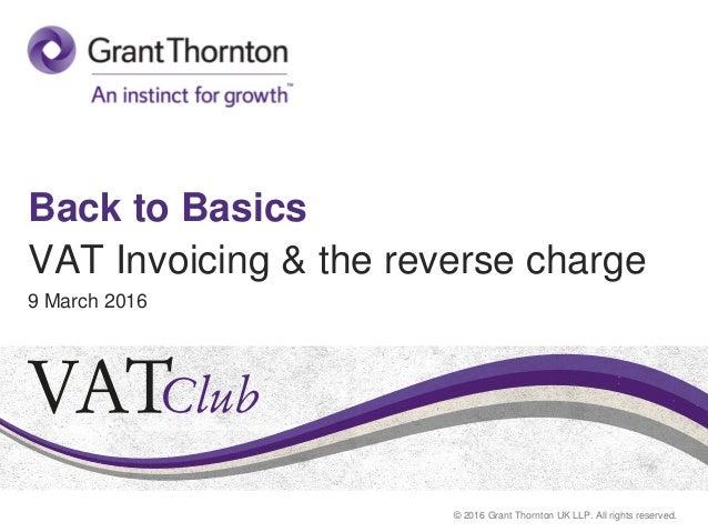 Back to Basi... Reverse Charge Vat