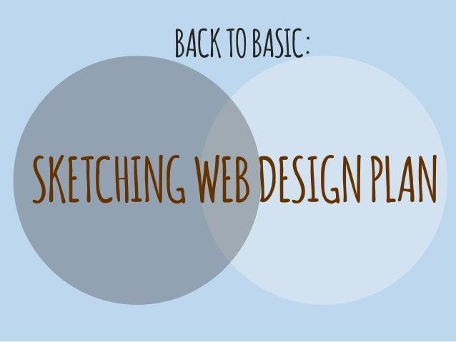 Back to basic sketching web design plan