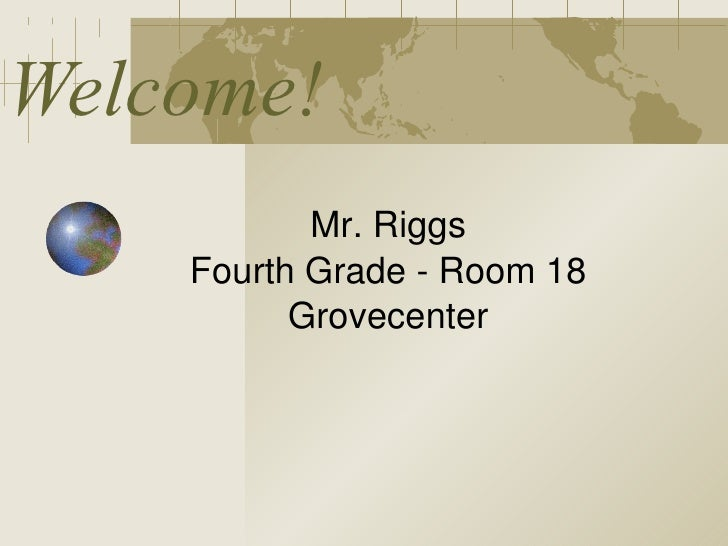 Back to School - Mr. Riggs