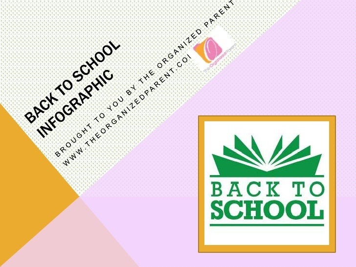 Back to School Infographic- The Organized Parent