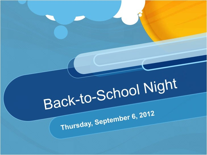Back to school night dumoff 2012