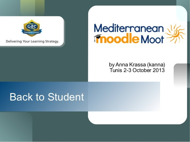 Back to Student by Anna Krassa (kanna) Tunis 2-3 October 2013