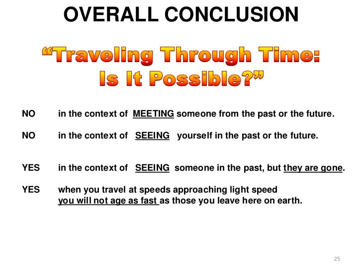 Will Time Travel to the past ever be possible?