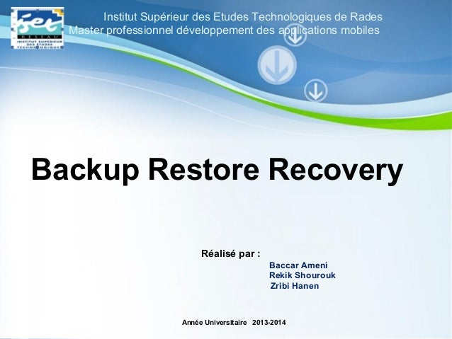 Pour plus de modèles : Modèles Powerpoint PPT gratuits Page 1 Powerpoint Templates Backup Restore Recovery Réalisé par : B...