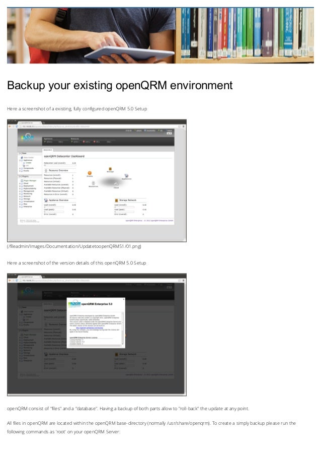 BackupyourexistingopenQRMenvironment Here a screenshot of a existing, fully configured openQRM 5.0 Setup  (/fileadmin/...