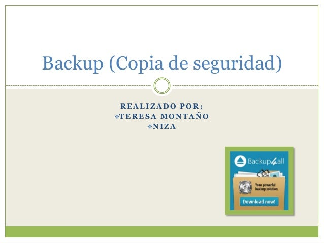 Backup (copia de seguridad)
