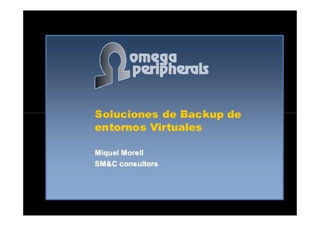 Backup de máquinas virtuales