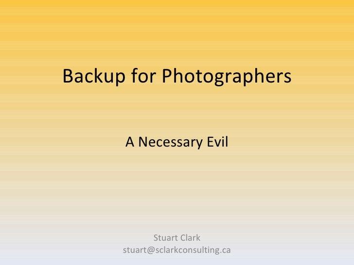 Backup for photographers