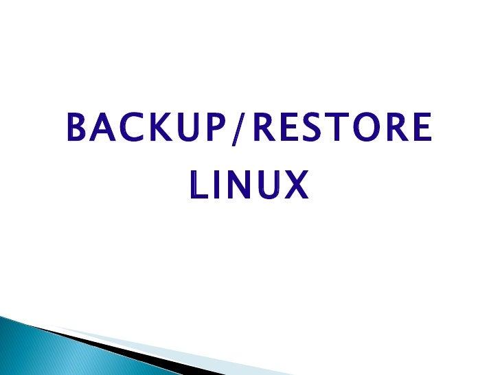 Backup+restore+linux