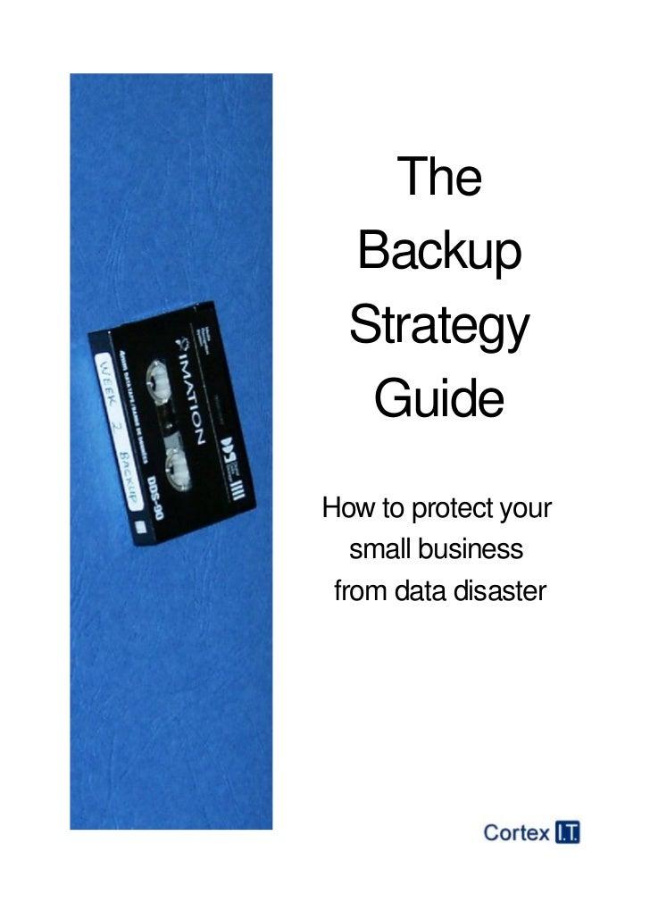 Backup strategy plan