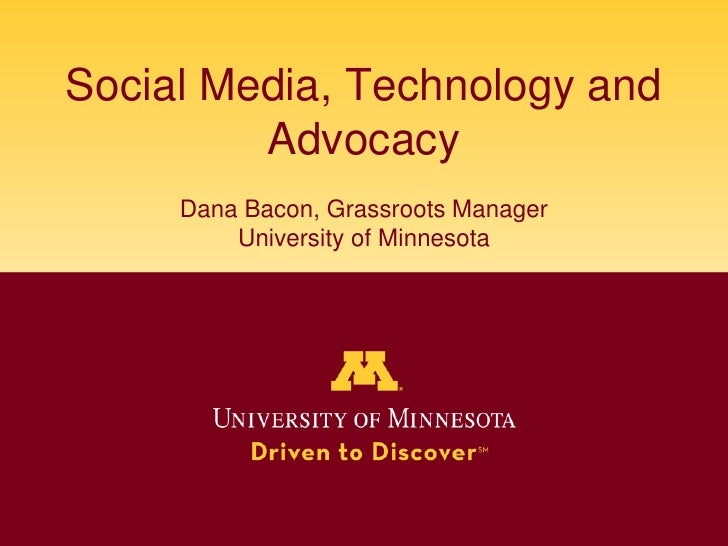 Social media, technology and advocacy
