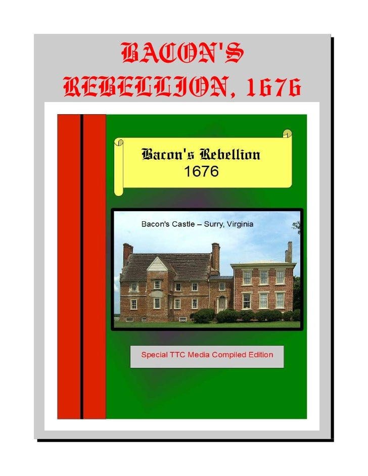 Bacons Rebellion   1676 American Colonial History