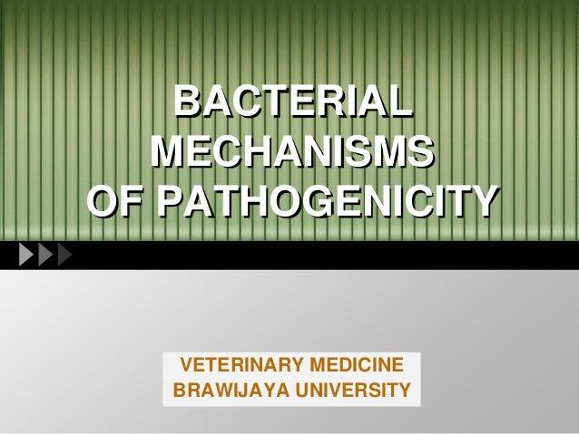 LOGO BACTERIAL MECHANISMS OF PATHOGENICITY VETERINARY MEDICINE BRAWIJAYA UNIVERSITY
