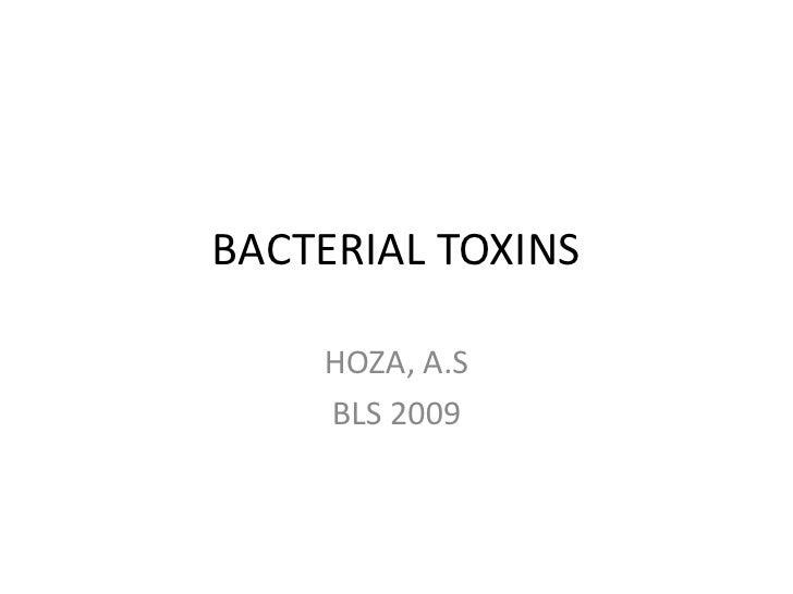 BACTERIAL TOXINS    HOZA, A.S    BLS 2009