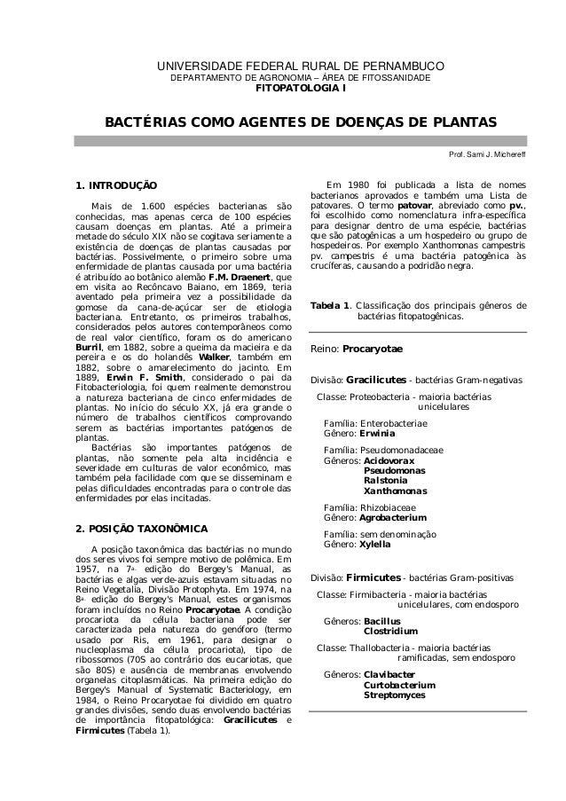 UNIVERSIDADE FEDERAL RURAL DE PERNAMBUCO                      DEPARTAMENTO DE AGRONOMIA – ÁREA DE FITOSSANIDADE           ...