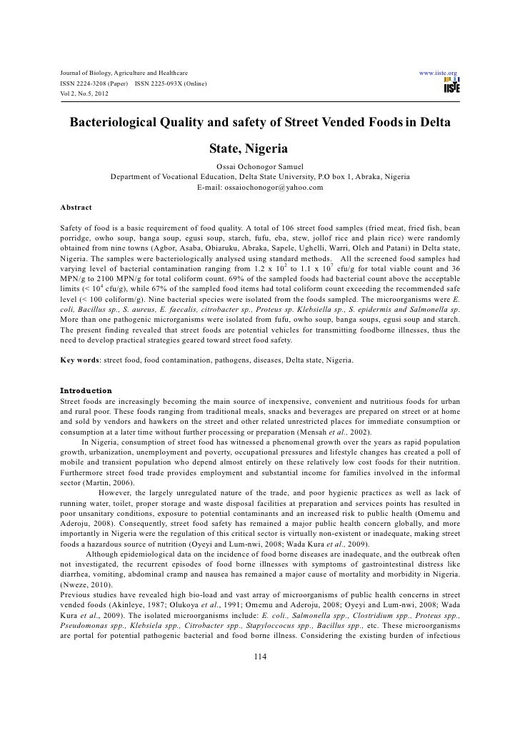 Journal of Biology, Agriculture and Healthcare                                                              www.iiste.orgI...