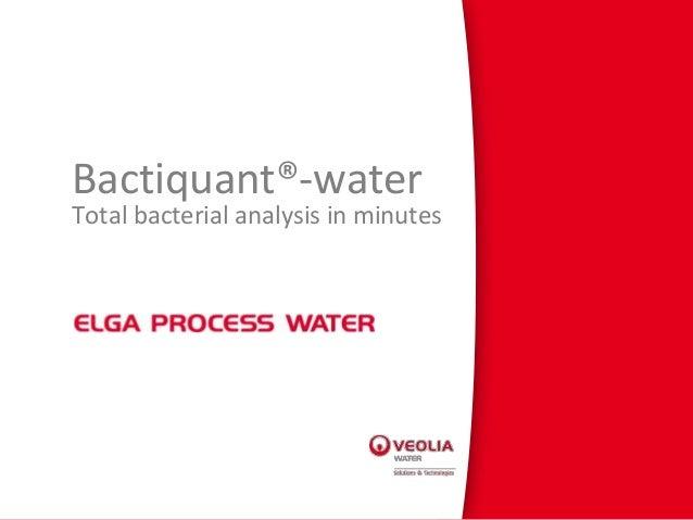 Bactiquant®-water webinar presentation