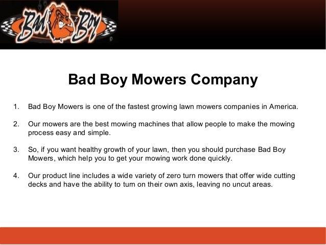 Lawn Mower Company Bad Boy Mowers Company 1