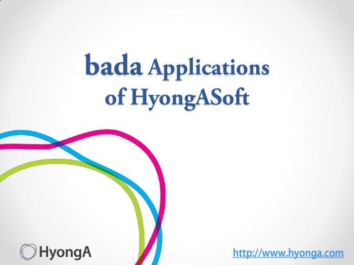 Samsung bada Applications of HyongaSoft