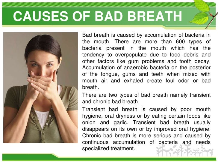 Bad Breath The Astonishing Cure