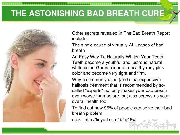 how to take out bad breath