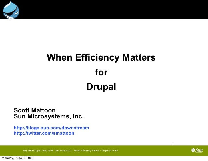 When Efficiency Matters                                                                             for                   ...