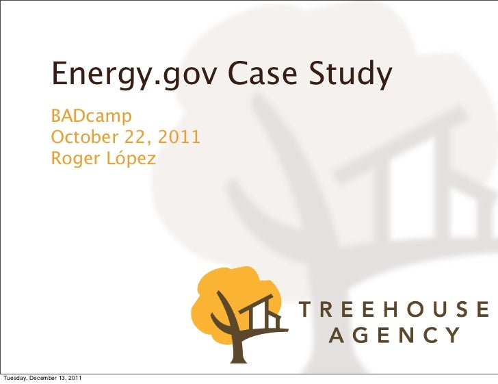 Energy.gov Case Study - BADcamp 2011