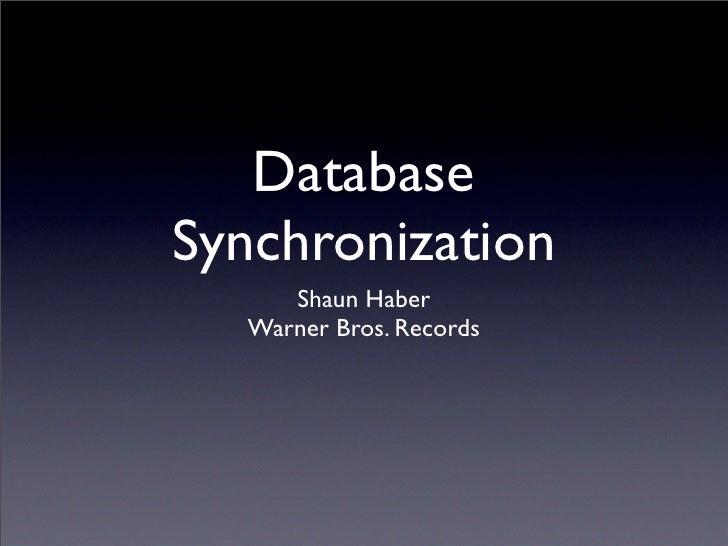 BADCamp 2008 DB Sync