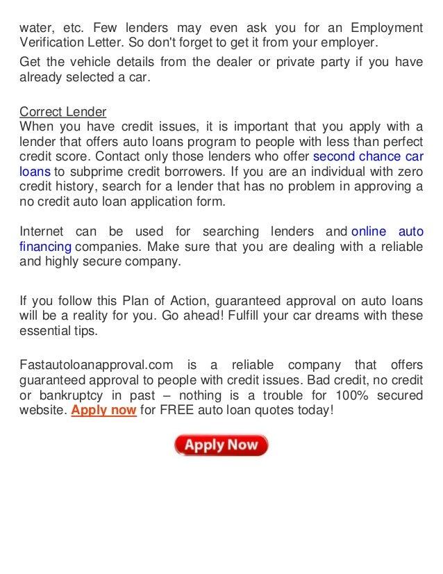 Car Loan Letter From Employer