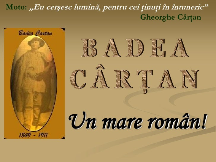 Badea Cartan - un mare roman (1849)