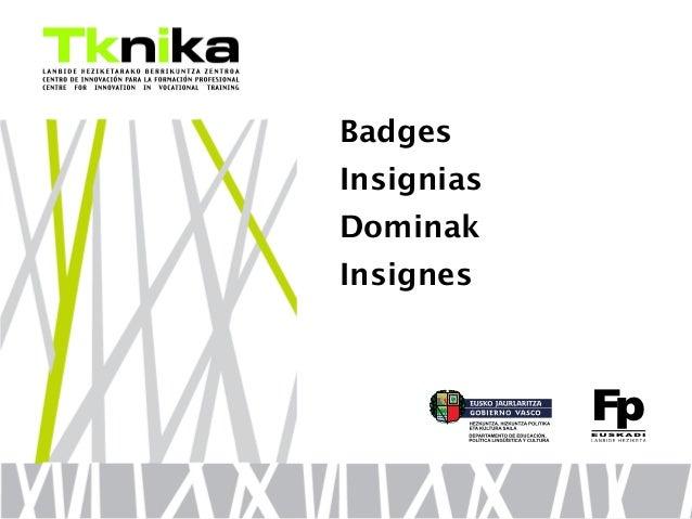 Badges Insignias Dominak Insignes