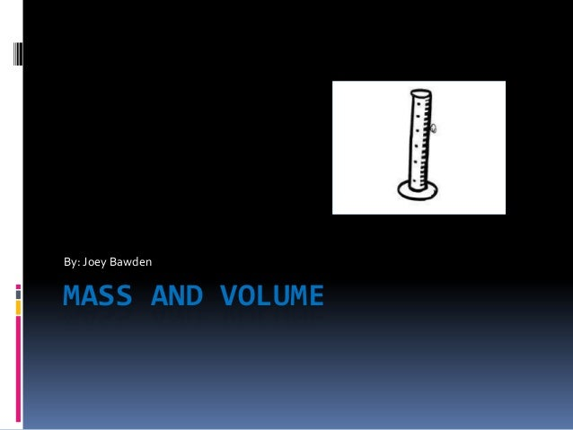 how to find mass from volume