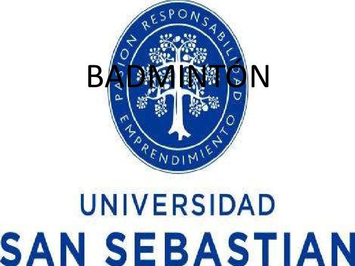 BADMINTÓN <br />
