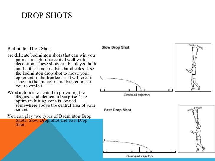 Types of Shots in Badminton Badminton Drop Shots