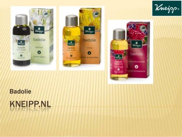 Badolie  KNEIPP.NL