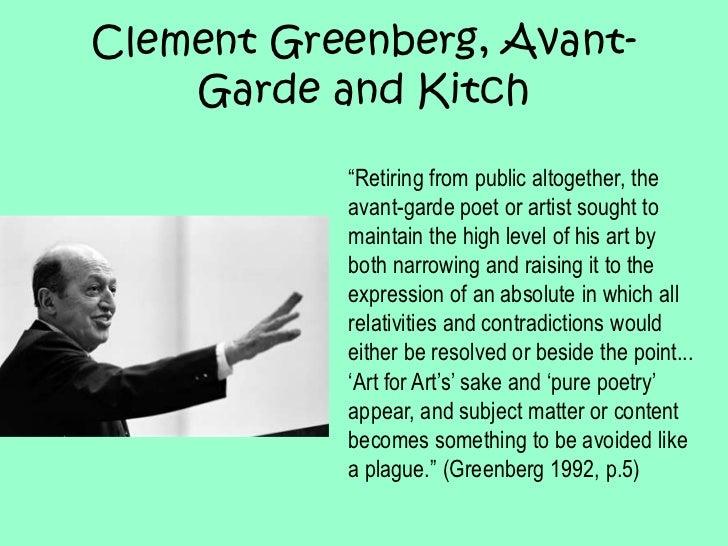 Clement greenberg essays