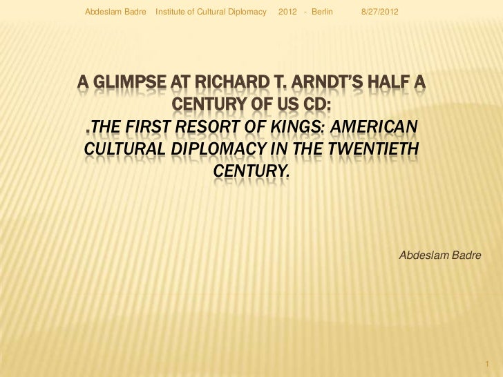 "Review of ""The First Resorts of Kings"" by Richard Arnd"