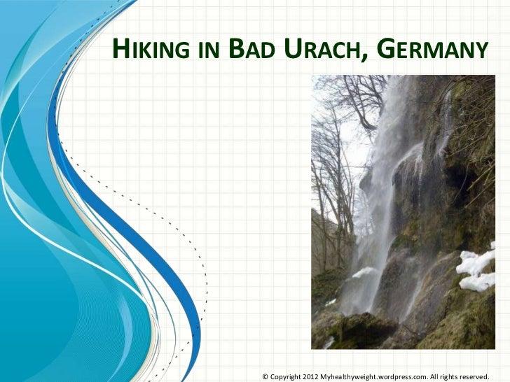 Hiking Bad Urach Germany